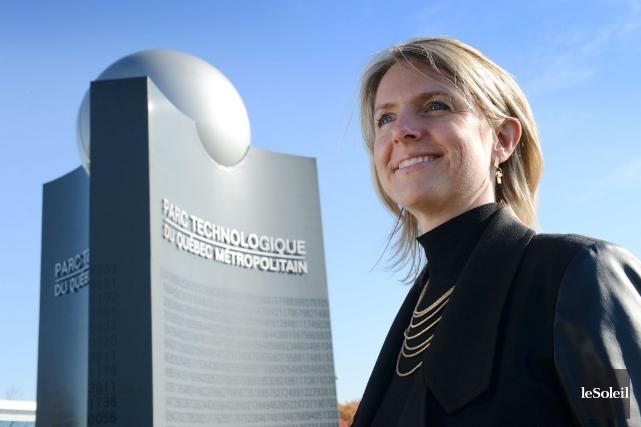 La directrice générale du Parc technologique de Québec,... (Photothèque Le Soleil, Patrice Laroche)