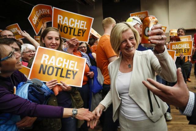 La nouvelle première ministre élue, Rachel Notley, a... (La Presse Canadienne)