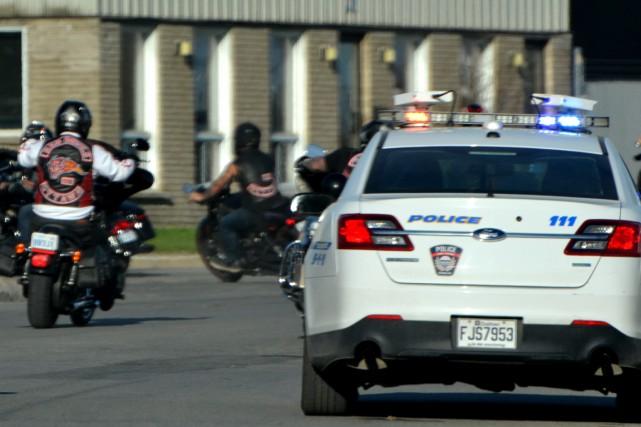 Samedi dernier, 300 motards ont transité par Delson... (PHOTO COURTOISIE)