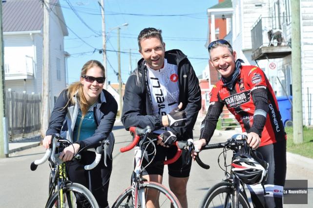 Gabrielle Fleury, Joël Bernier et Pierre Cloutier sont... (Photo: Émilie O'Connor, Le Nouvelliste)