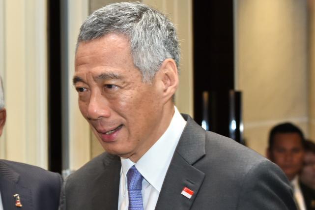 Le premier ministre de Singapour, Lee Hsien Loong.... (Photo Roslan Rahman, AFP)