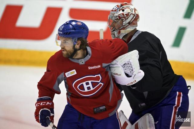 David Desharnais était de retour sur la glace,... (André Pichette, Archives La Presse)