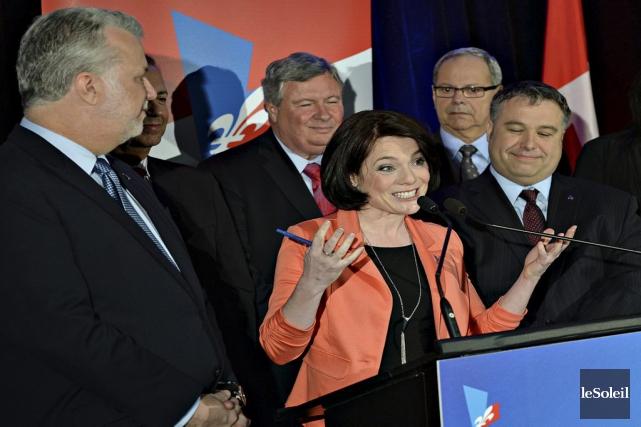 La candidate dans Chauveau pour le PLQ, Véronyque... (PHOTO PATRICE LAROCHE, ARCHIVES LE SOLEIL)