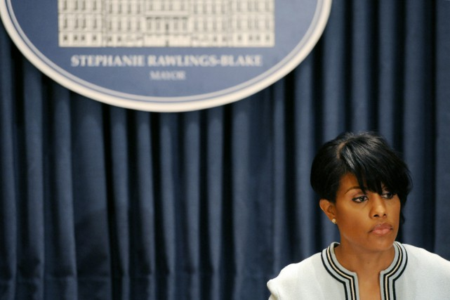 La mairesse de Baltimore Stephanie Rawlings-Blake.... (PHOTO KIM HAIRSTON, THE BALTIMORE SUN/AP)