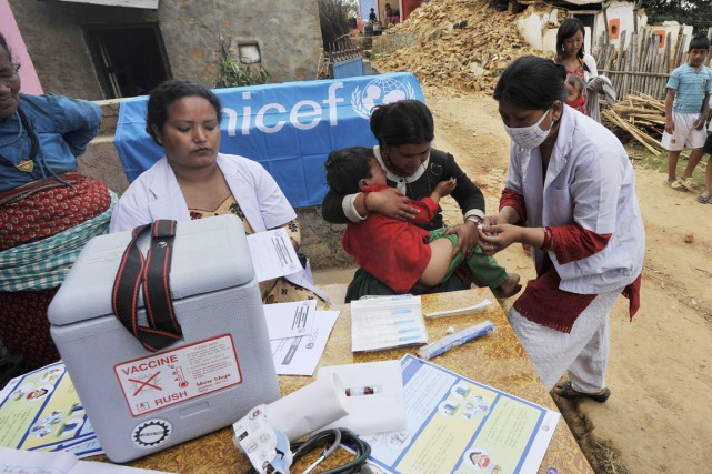 L'UNICEF a souligné qu'il fallait agir vite pour... (PHOTO PRAKASH MATHEMA, AFP)
