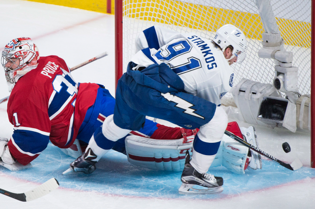 Steven Stamkos a finalement marqué son premier but des... (Photo Graham Hughes, PC)