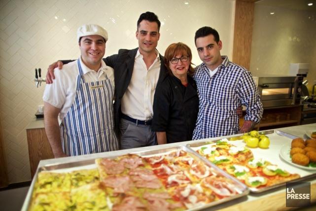 Mauro Covone, Massimo Covone, Giovanna Covone et Fabrizio... (Photo Andre Pichette, La Presse)
