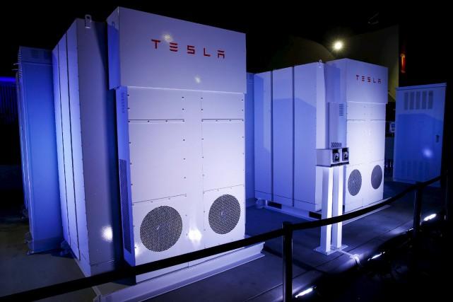 Le modèle industriel de la batterie dévoilée par... (PHOTO PATRICK T. FALLON, ARCHIVES REUTERS)