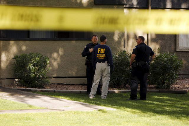 L'appartement des suspects, situé à Phoenix, en Arizona,... (Photo: Reuters)