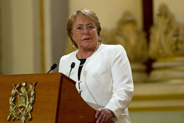 La présidente chilienne, Michelle Bachelet... (PHOTO ARCHIVES AP)