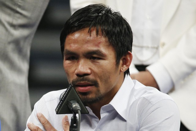 Manny Pacquiao... (Photo John Locher, AP)