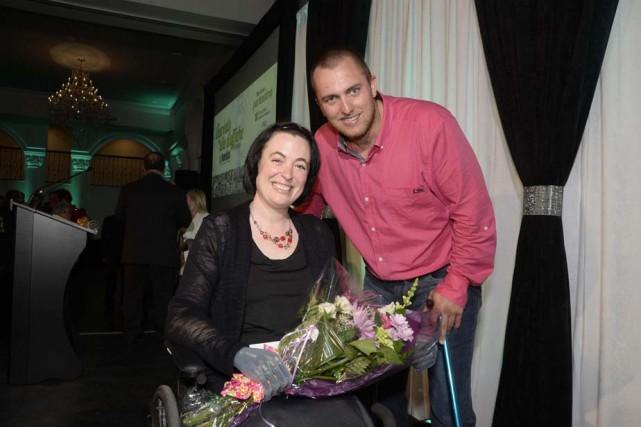 Marie-Sol Saint-Onge et Tommy Grenier ont été honorés,... (Photo: Sylvain Mayer, Le Nouvelliste)