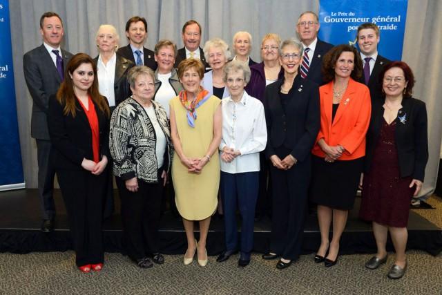 Le Prix du Gouverneur général pour l'entraide a été remis à 16 bénévoles de... (Courtoisie Sergent Ronald Duchesne, Rideau Hall)