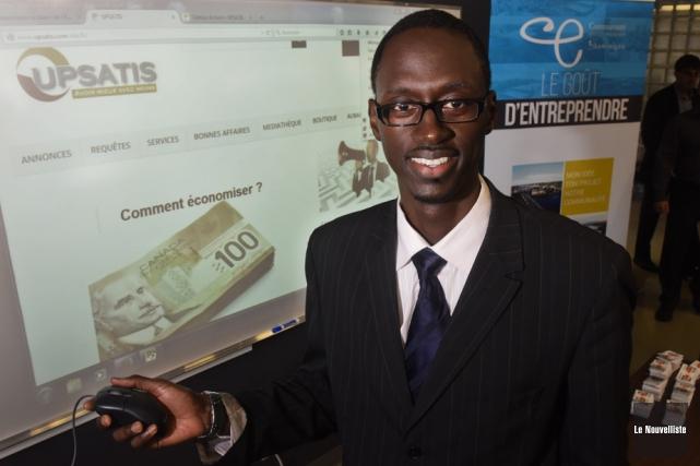 Ababacar Ndao a présenté son entreprise, Upsatis, mercredi... (Photo: François Gervais, Le Nouvelliste)