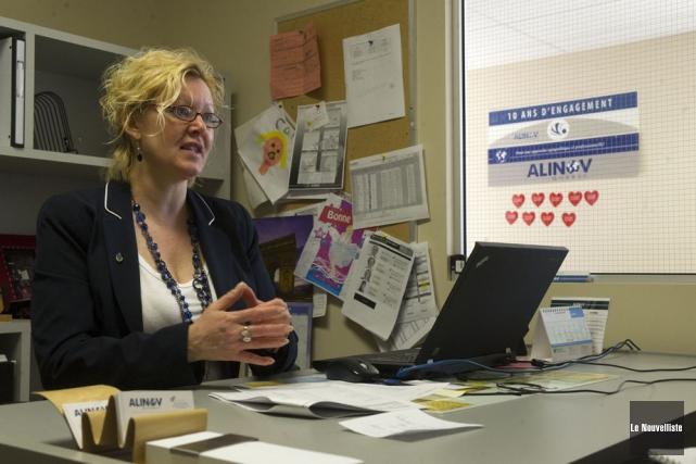 Caroline Dionne, directrice d'ALINOV Québec.... (Photo: Stéphane Lessard, Le Nouvelliste)