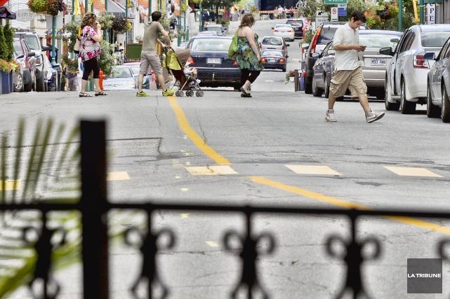 Une portion de la rue Wellington Nord doit être fermée pour la tenue d'un... (Archives La Tribune)
