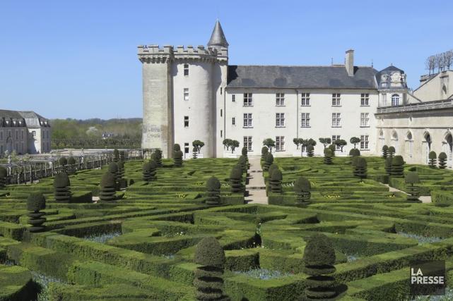 Le château de Villandry et ses magnifiques jardins.... (Photo Andrée Lebel, La Presse)