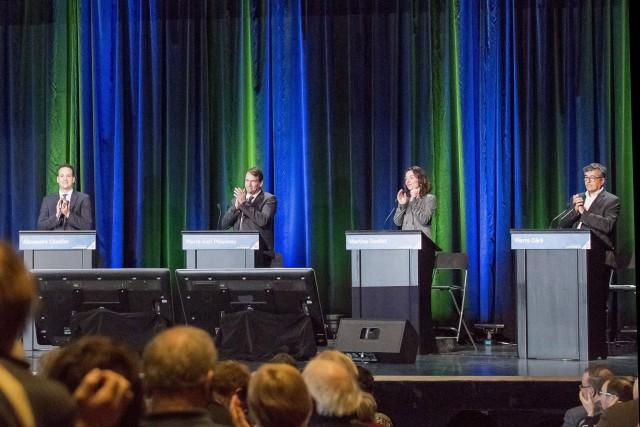 Les candidats à la direction du PQ Alexandre... (Photo archives La Presse Canadienne)