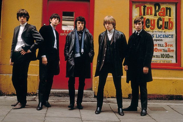 La «Tin Pan Alley» de Londres, centre névralgique... (Photo: Terry O'Neill, tirée du livre The Rolling Stones)