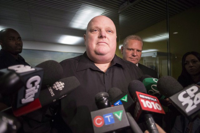 Rob Ford... (CHRIS YOUNG, ARCHIVES LA PRESSE CANADIENNE)