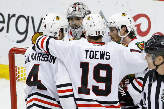 Les Blackhawks de Chicago affronteront les Ducks d'Anaheim... (Photo Ann Heisenfelt, AP)