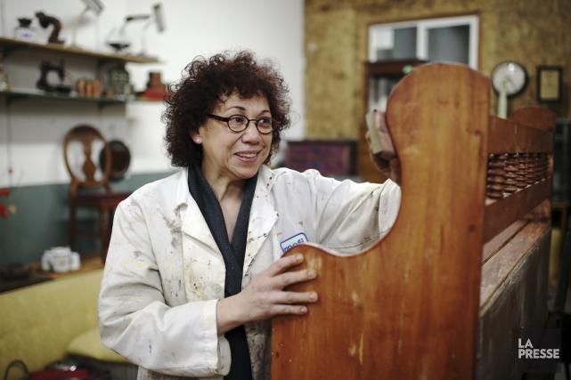 Dans son atelier de l'avenue Van Horne, Pamela... (PHOTO Martin Chamberland, LA PRESSE)