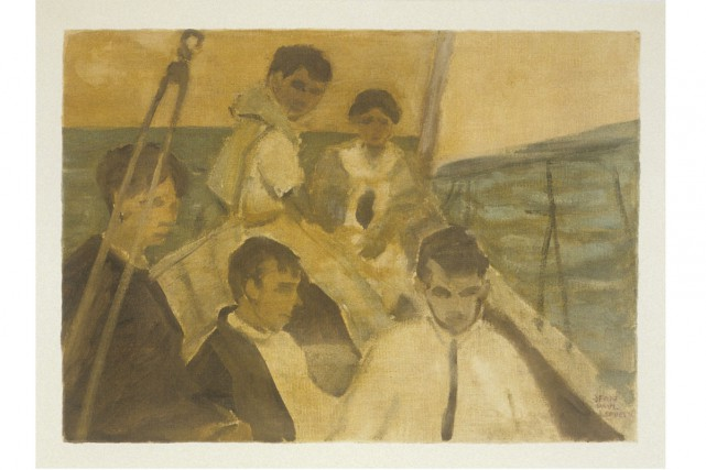 Jean Paul Lemieux, Yachting at Pointe Claire 1912,... (Photo: Richard-Max Tremblay, fournie par le Musée de Lachine)