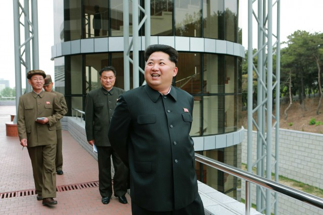 Le leader nord-coréen Kim Jong-Un... (PHOTO AFP/KCNA)