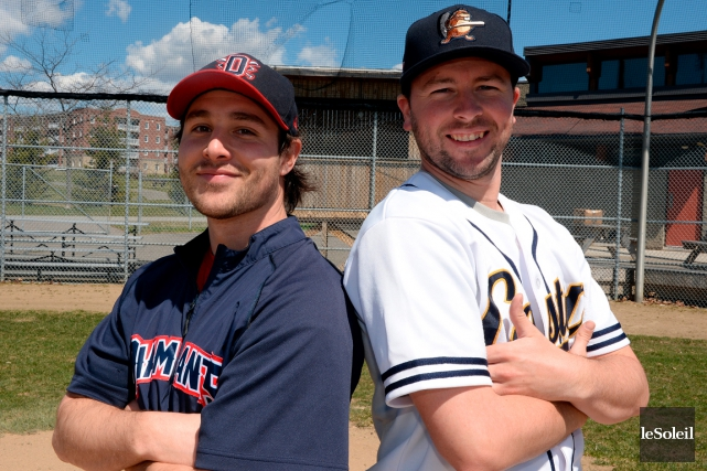 Les champions de la saison et des séries éliminatoires de la Ligue de baseball... (Le Soleil, Erick Labbé)
