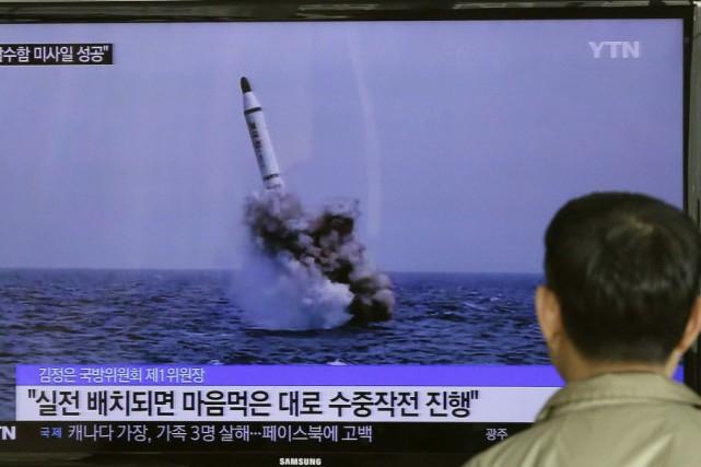 L'annonce de ce tir de missile, sur lequel... (Photo Ahn Young-oon, AP)