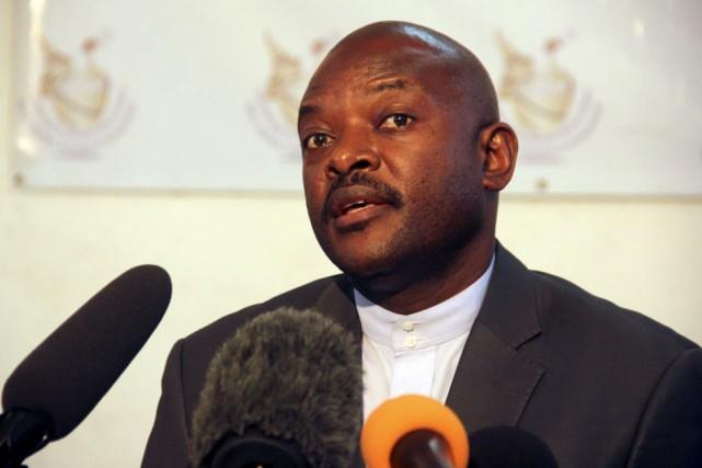 Le président Pierre Nkurunziza a présenté officiellement sa... (PHOTO JEAN PIERRE HARERIMANA, ARCHIVES REUTERS)