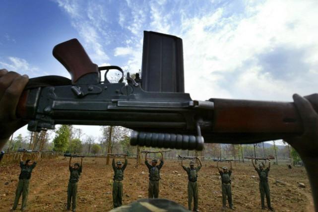 La guérilla maoïste est active depuis 1967. Cette... (Photo Mustafa Quraishi, AP)