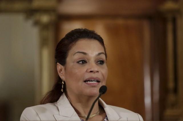 Roxana Baldetti est une ancienne journaliste et femme... (Photo Jorge Dan Lopez, Reuters)