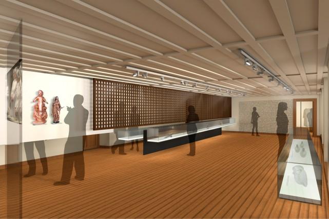 Le design de l'exposition permanente a été élaboré... (Maquette fournie par Bisson Castonguay pour le Monastère des Augustines)