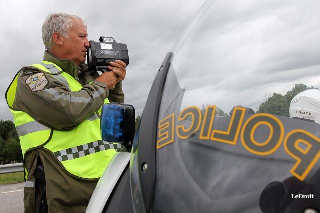 Les corps policiers rappellent que la vitesse est... (Photo Etienne Ranger, archives Le Droit)