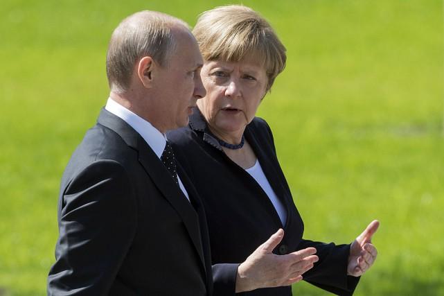 La chancelière allemande est arrivée dans la capitale... (Photo AFP)