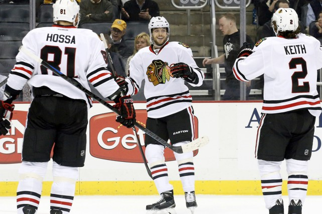 David Rundblad (au centre) n'a jamais disputé un match... (PHOTO CHARLE LECLAIRE, ARCHIVES USA TODAY)