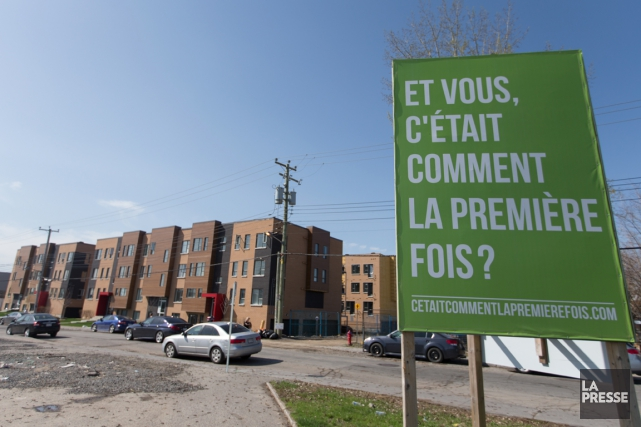Pour Condos Mont-Joli, à Montréal-Nord, Construgep a mis... (PHOTO IVANOH DEMERS, LA PRESSE)