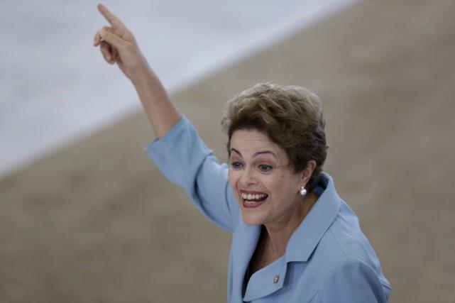 La présidente du Brésil, Dilma Rousseff.... (PHOTO UESLEI MARCELINO, REUTERS)