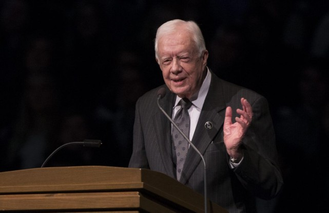 L'ancien président américain Jimmy Carter.... (Photo Robert Franklin, archives AP)