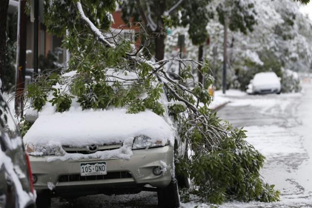 Des chutes de neige printanières ont été signalées... (Photo: AP)