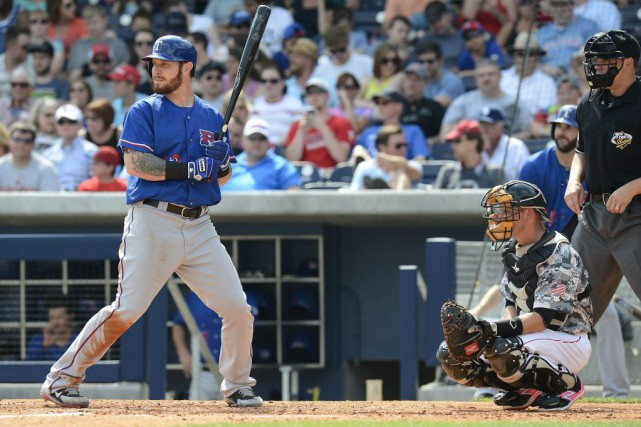 Josh Hamilton dans l'uniforme de l'Express de Round... (Photo Mark Zaleski, AP)