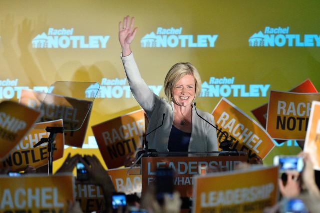 La chef néo-démocrate en Alberta, Rachel Notley.... (PHOTO NATHAN DENETTE, LA PRESSE CANADIENNE)
