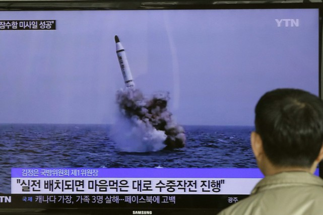 Un missile mer-sol balistique stratégique aurait été lancé... (Photo archives AP)
