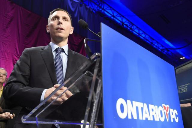 Patrick Brown, le nouveau chef du Parti progressiste-conservateur... (Frank Gunn, La Presse Canadienne)