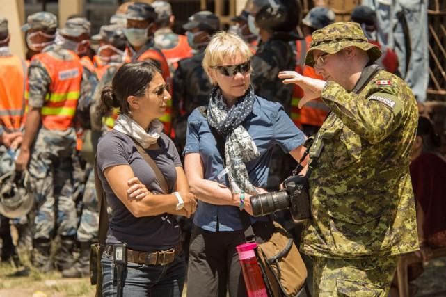 Le travail du capitaine Gabriel Rousseau consiste notamment... (Photo: Forces armées canadiennes)