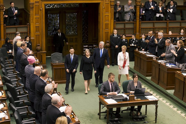 L'homologue ontarienne de Philippe Couillard, Kathleen Wynne, a... (Photo Mark Blinch, Reuters)