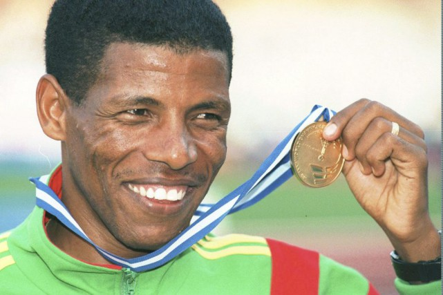Haile Gebrselassie, en 1997.... (PHOTO LYNNE SLASKY, ARCHIVES ASSOCIATED PRESS)