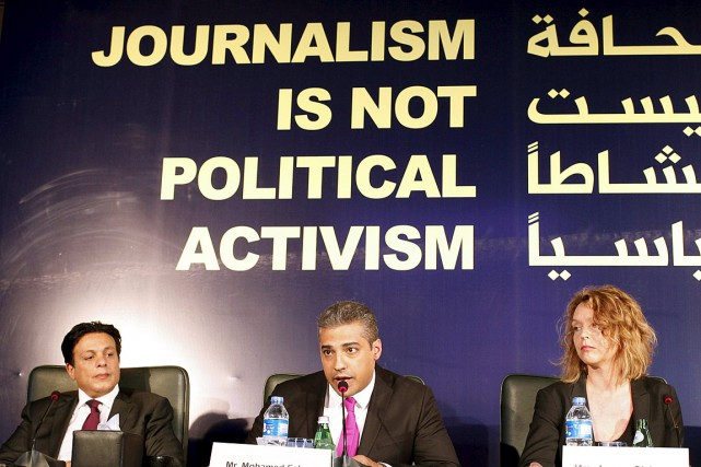 Le journaliste canadien Mohamed Fahmy accuse l'agence de nouvelles... (Photo Asmaa Waguih, Reuters)