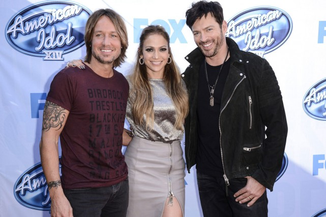 Keith Urban, Jennifer Lopez et Harry Connick Jr.... (Photo: archives AP)